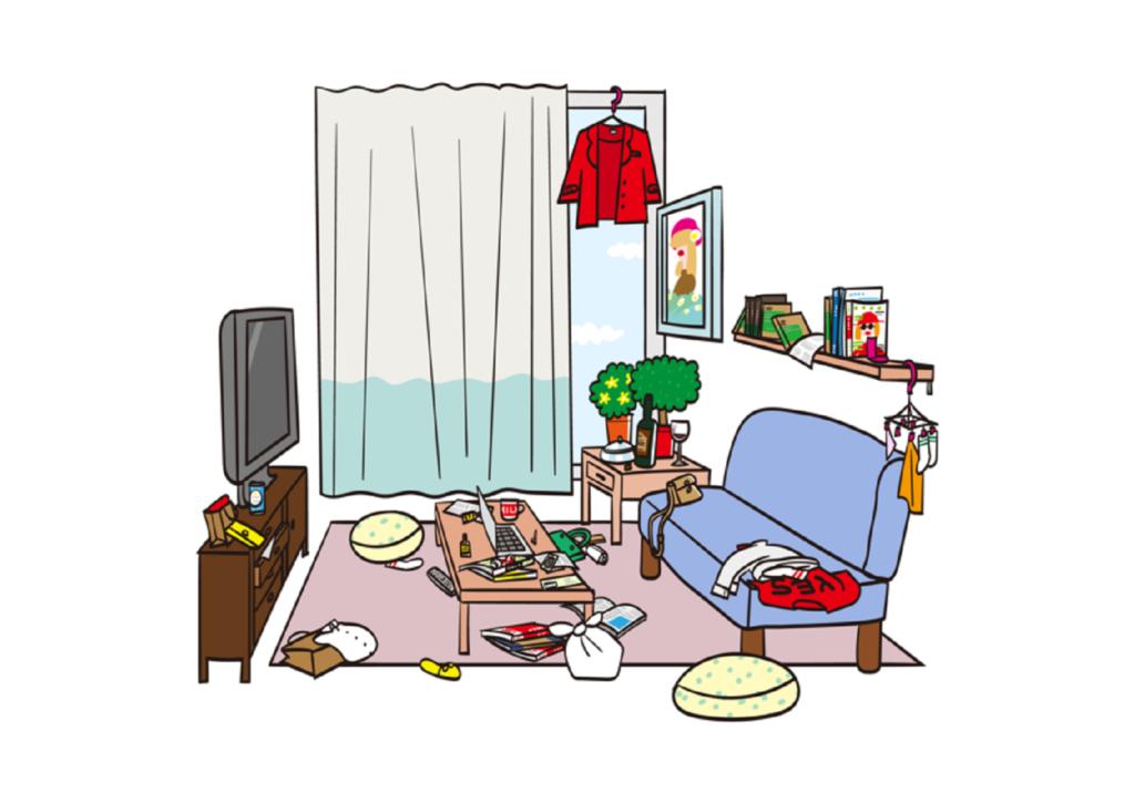 Case.01 なかなか片付かない部屋