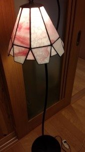 ステンドグラスのランプシェード